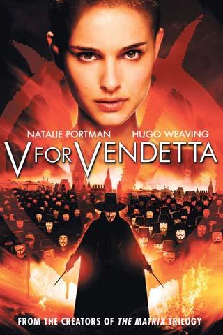 Poster do filme V de Vingança com o rosto de V